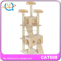 Hot sale durable luxury wooden cat tree