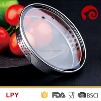 L type high base tempered glass cover with wide rim