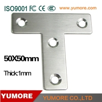 Stainless steel 50*50mm metal furniture table leg T brackets