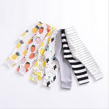 17 spring and autumn winter baby print pants