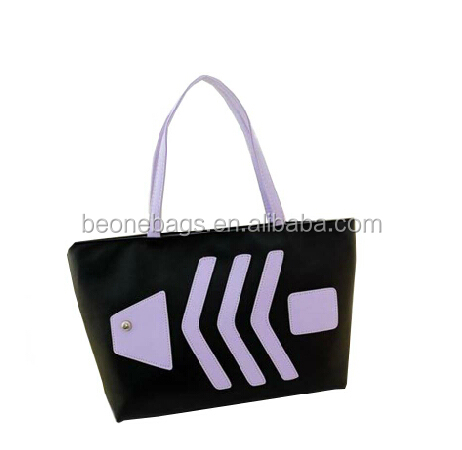 2014 Popular Simple Fashion Style Fish Pattern Shopping Lady Hand Tote Bag