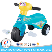 Funny plastic tricycle sliding pedal car kids with music