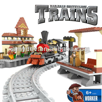 462pcs per set Railroad Conveyance Trains Educational building blocks item number A158293 for kids