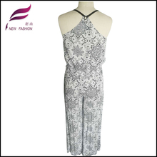 Durability fancy cheap jumpsuits for women floral embroideried long-sleeved sext jumpsuit side bandage women jumpsuit