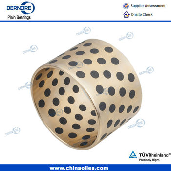 bronze bushing,flange bronze bushing Solid Bronze Bush with Solid Lubricant