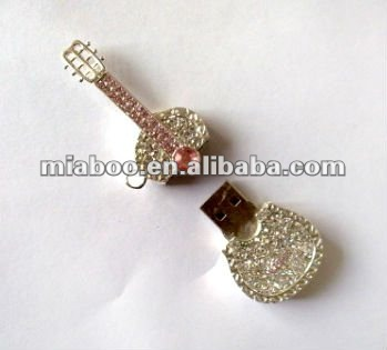Guitar shape hot sale jewelry thumb drives 100% Full Capacity -Free Sample