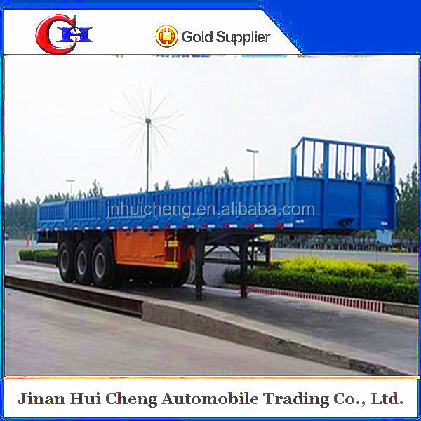 2015 chinese trade assurance 3 axles 50 payload ton steel cargo semi trailer