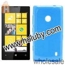 Blue Candy Gel Jelly Glossy Soft TPU Case for Nokia Lumia 520 TPU Back Cover Case for Nokia Lumia 525