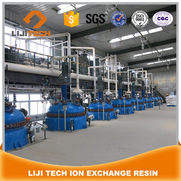 LIJI TECH resin factory of Anion Cation exchange resin ,Adsorption resin,Mixed bed resin