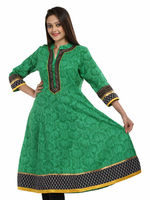 Attractive look women ethnic 100% cotton 3/4 sleeve indian designer kurta