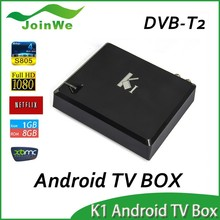Most popular Amlogic S805 quad core dvb t2 smart tv box full hd 1080p h.265 k1 android tv box