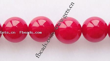 4mm oil dyed round red coral beads