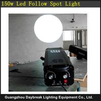 Stage New 150W Led Follow Spot Light , Iris adjust Led Spot Light No need Warm Up , 6Colors Wedding Spot Led