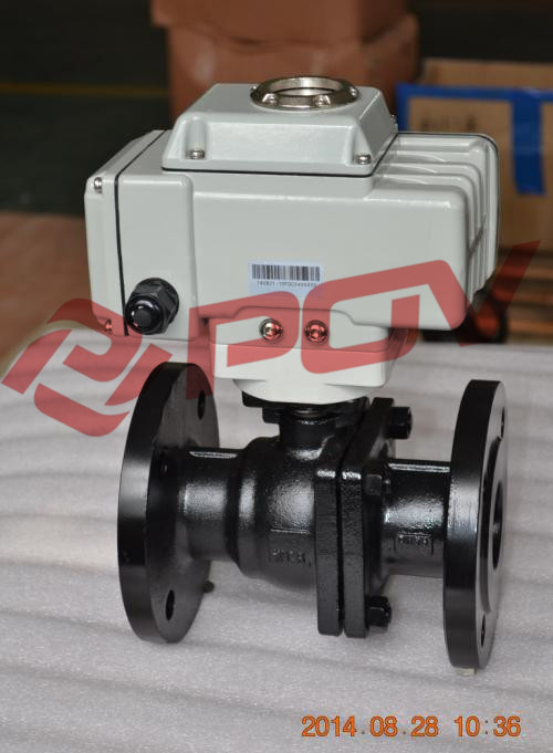 Electric actuated 2way carbon steel ball valve