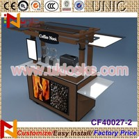 For christmas wooden mobile coffee cart espresso cart ice cream cart for sale