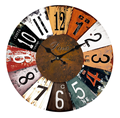 Retro Vintage Silent Wooden Wall Clock for Home Decoration