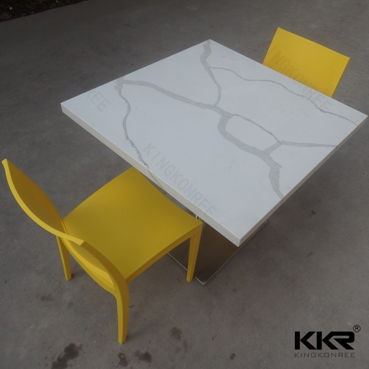 Kingkonree solid surface restaurant dining table and chair