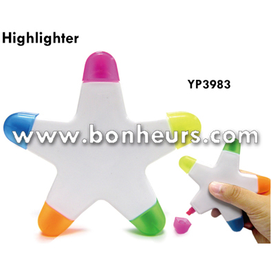 New Novelty Toy Stars Shape Colorful Marker Pen Highlighter