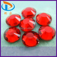 High Quality SS6-SS40 Light Siam Korea Glass Hotfix DMC Flatback Stones for Jewelry & Shoes