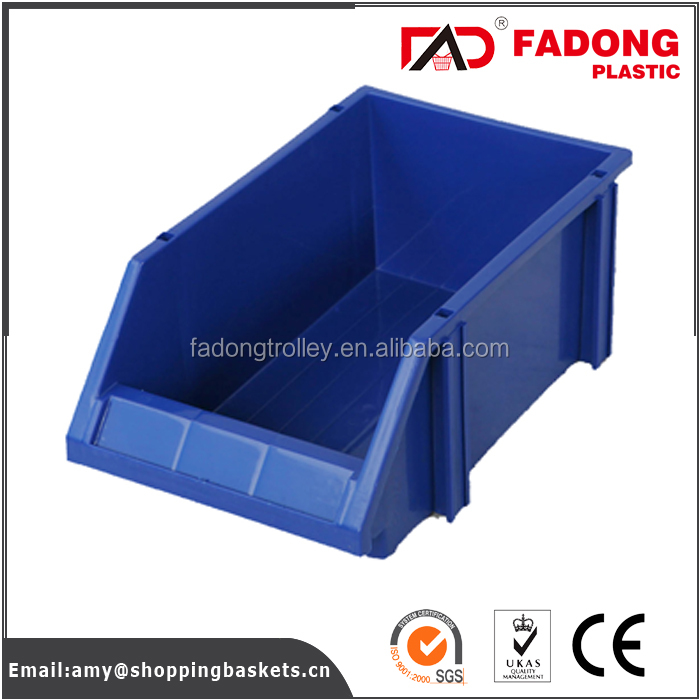 custom services available warehouse plastic storage bins with divider and handle