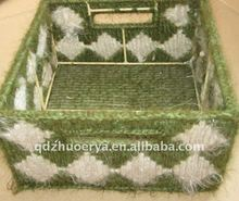 fashion natural material crochet storage basket