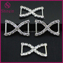 Wholesale embellishment fancy belt Diamante Rhinestone buckle Rhinestone bikini bra bow connectors
