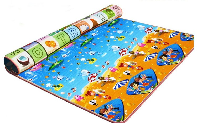 2015 folding eco-friendly thick foam clear floor play mat for kids