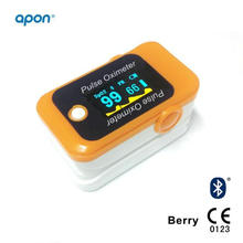 Bluetooth 4.0 Fingertip O2 Pulse Oximeter Monitor Blood Oxygen Oximetry Overnight Oximetry Test CE Approved