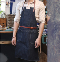 Wholesale Denim Work Apron Of Male and Female Garden Apron