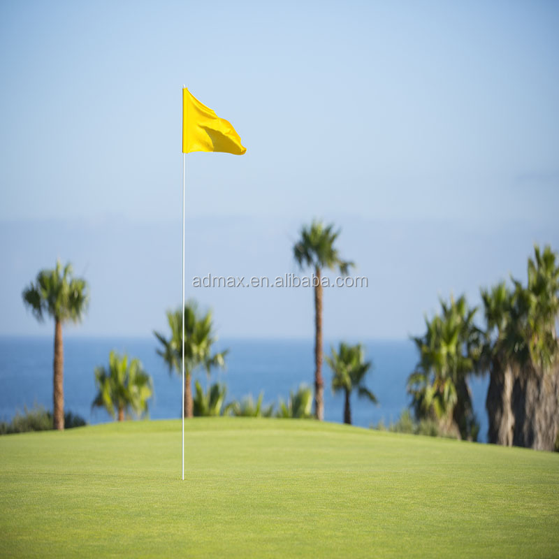 Golf hole flag flying banner