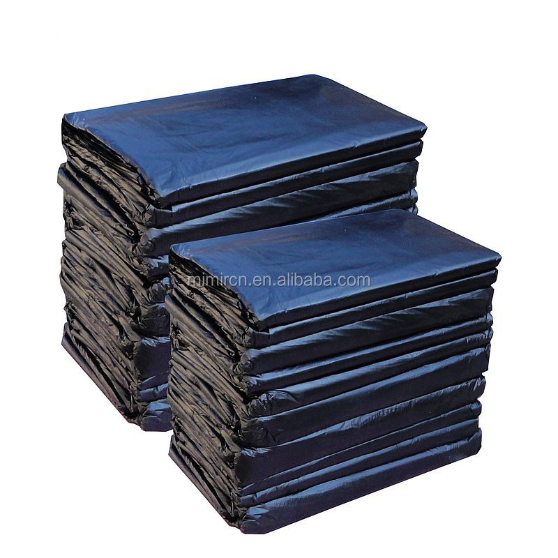disposable black plastic garbage bag for rubbish packing