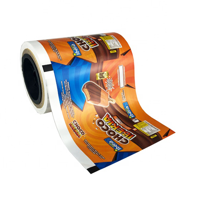 Custom printed Ice-Cream Popsicle packaging bag/aluminum foil roll film for Frozen food packaging