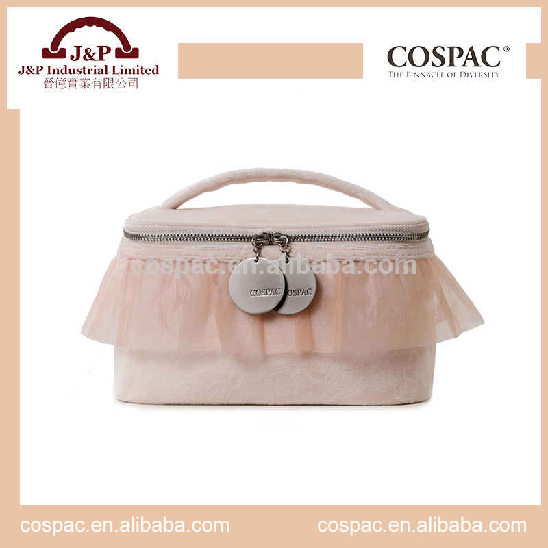 Reliable and Cheap cosmetic bag with hot pink zipper