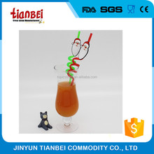 crazy plastic drinking straw with 2D PVC figurine