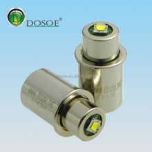 1-4.5V 3W CNC 200-220lm small head led flashlight bulb light CNC bulb