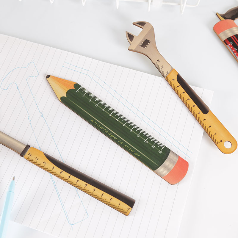hot sell creative custom school student wooden ruler