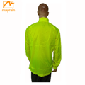 Men's Winter Fluorescent color Reflective Wind Coat