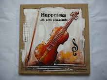 Hangzhou import violin 3d canvas painting wall art