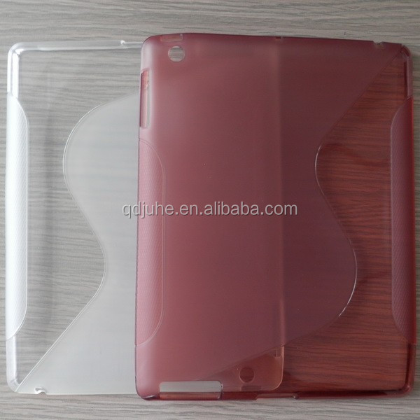 high quality soft silicon TPU case cover for ipad mini