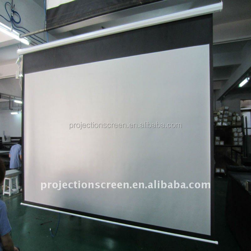 Square Casing Motorized Projector Screen With Remote