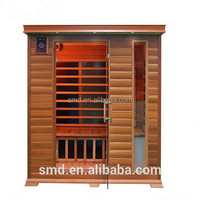 2015 year modern house design healthy and beauty sauna home indoor wood far infrared sauna room SMT-031PA