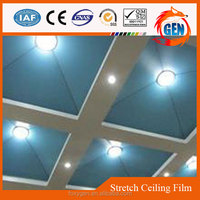 pop interior decors high quality protective pvc blue transparent ceiling film