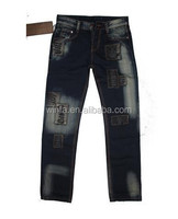 Stock OEM Different Blue Washed Men Jeans With Hole