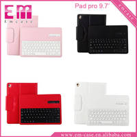 Litchi Pattern Bluetooth Split Keyboard Leather Case For iPad Pro 9.7