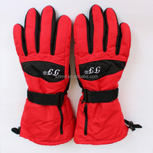 rechargeable battery heated waterproof ski gloves