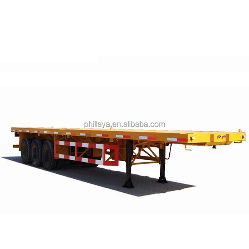 3 <strong>Axle</strong> flatbed semi truck trailers for sale with container twist locks and side walls , truck trailer <strong>rear</strong> lights led