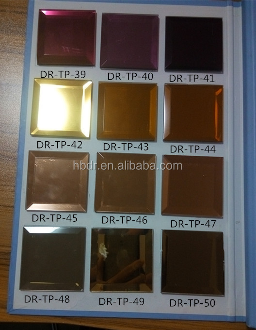 high-quality double coated Colored mirror, tinted mirror glass