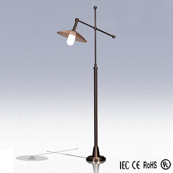 Wholesale Antique Rotatable Reading Side Arm Standing Lamps Adjustable Floor Lamp