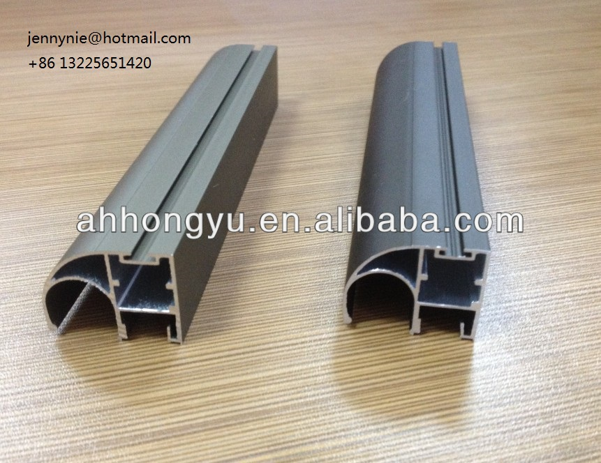 Champagne and bronze anodizing aluminum profile