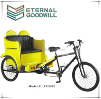 21 Speeds sightseeing electric passenger bike taxi / bicycle taxi / electric pedicab rickshaw for sale